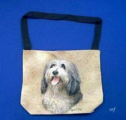 bearded collie totebag
