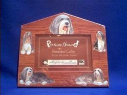 bearded collie picture frame
