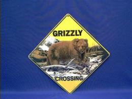 grizzly bear crossing sign