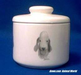 bedlington terrier jar porcelain