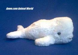 beluga plush stuffed animal toy whale
