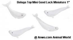 beluga whale toy mini good luck miniature