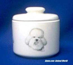bichon frise jar porcelain