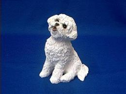 bichon frise sandicast figurine