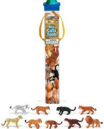 big cats toy tube animals assortment