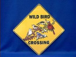 bird crossing sign