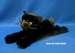 black cat plush stuffed animal tug