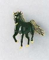 black horse pin brooch bb0096b