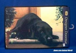 black lab door mat