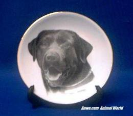black lab plate porcelain