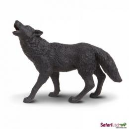 black wolf toy miniature replica howling