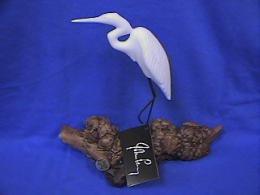blue heron figurine