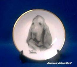 bloodhound plate porcelain