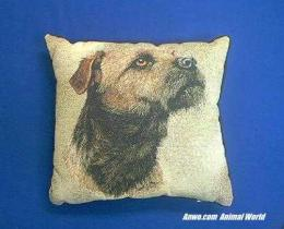 border terrier pillow throw