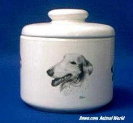 borzoi jar porcelain