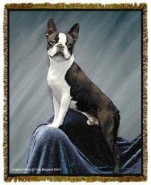 boston terrier blanket throw tapestry afghan