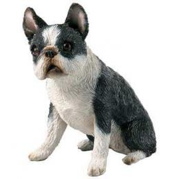 boston terrier figurine sandicast small size