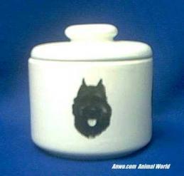 bouvier des flandres jar porcelain