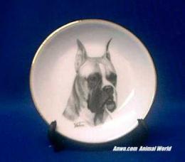 boxer plate porcelain