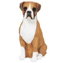 boxer figurine sandicast uncropped ears