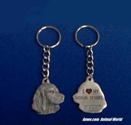boykin spaniel keychain pewter usa