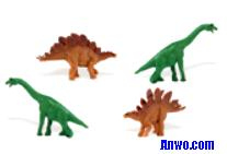 brachiosaurus stegosaurus toys mini good luck