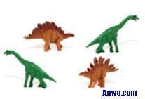 brachiosaurus stegosaurus toys mini good luck