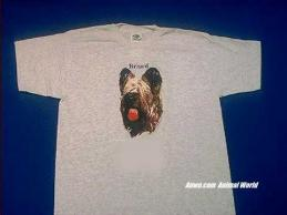 briard t shirt ash