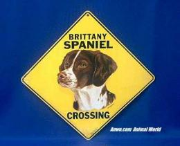 brittany spaniel crossing sign