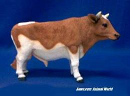 brown holstein cow figurine bull statue
