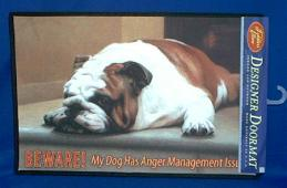 bulldog doormat beware welcome mat