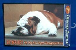 bulldog doormat beware welcome mat
