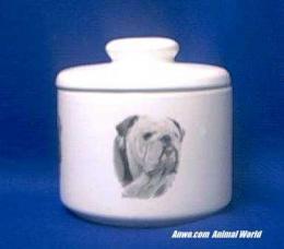 bulldog jar porcelain