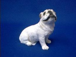 white bulldog figurine sandicast