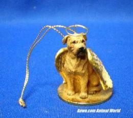 bullmastiff angel christmas ornament