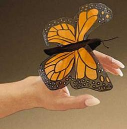 monarch butterfly finger puppet folkmanis