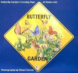 butterfly gardens crossing sign