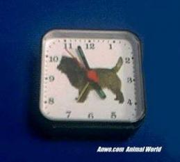 cairn terrier clock battery