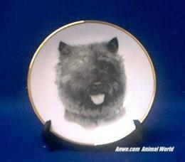 cairn terrier plate porcelain