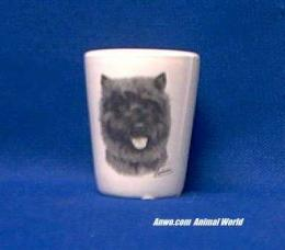 cairn terrier shot glass porcelain