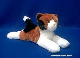 calico cat plush stuffed animal zesty