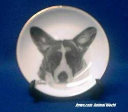 cardigan welsh corgi plate porcelain