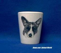 cardigan welsh corgi shot glass