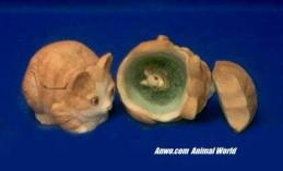 cat critter keeper figurine stone critters