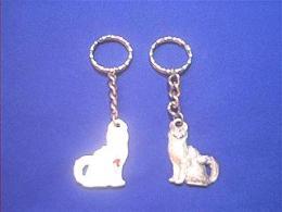angora cat keychain