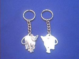 colorpoint cat keychain