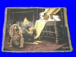 cavalier king charles spaniel blanket throw tapestry