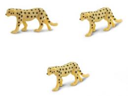cheetah toy mini good luck miniature replica