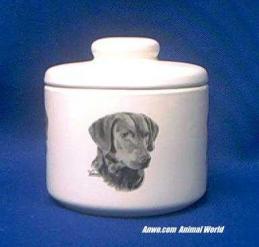chesapeake bay retriever jar porcelain