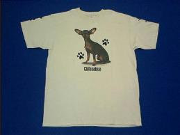 chihuahua black & tan t shirt